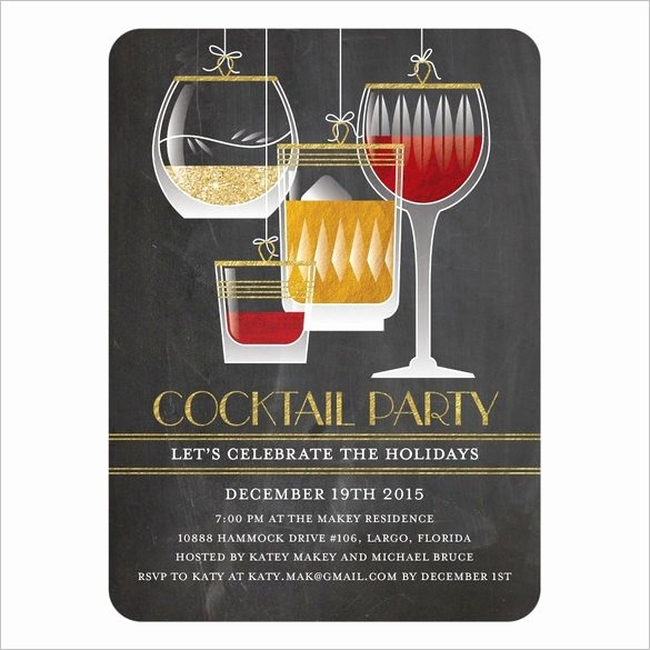 Cocktail Party Invitation Template Unique 21 Stunning Cocktail Party Invitation Templates & Designs