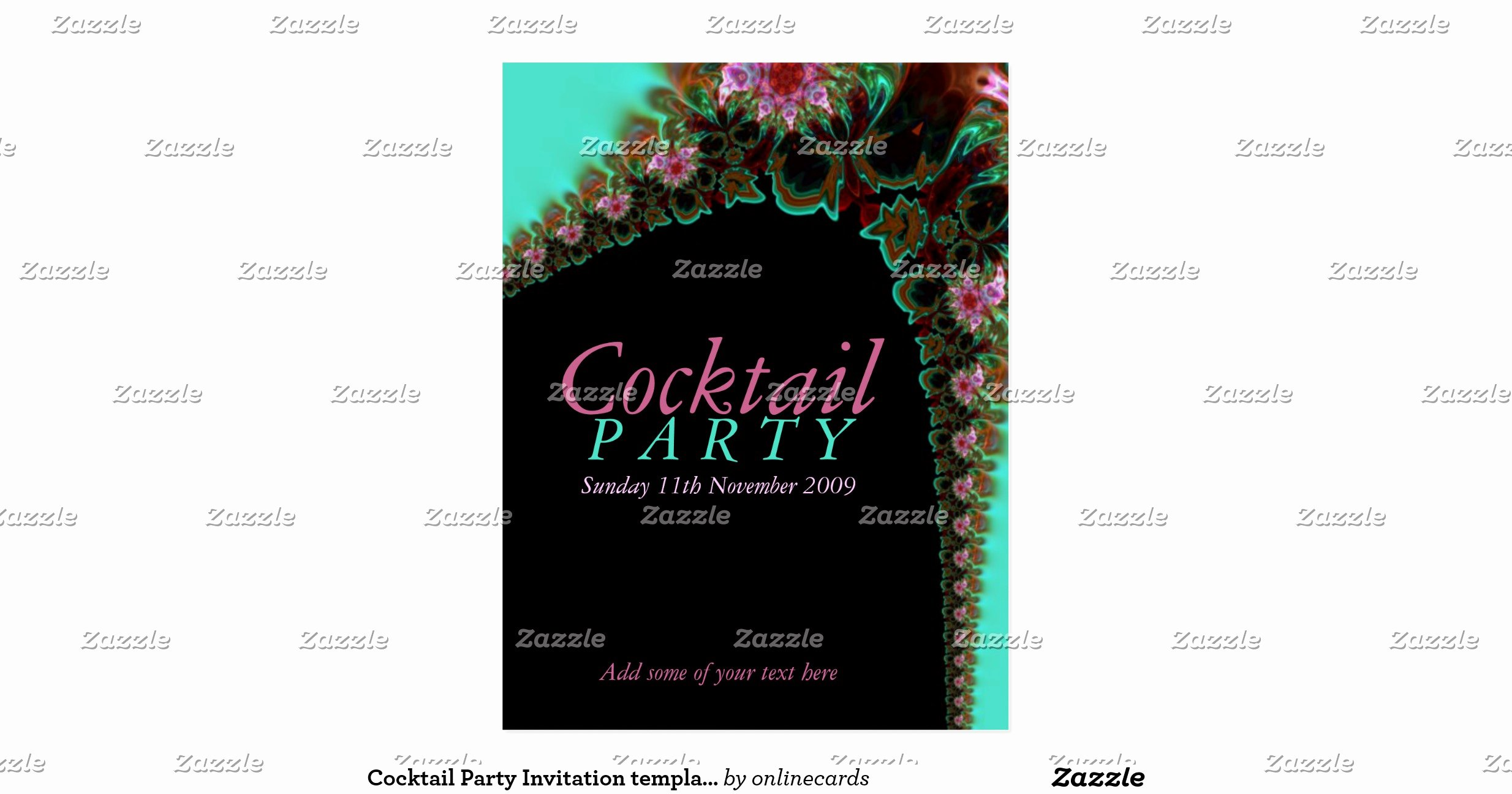Cocktail Party Invitation Template Unique Cocktail Party Invitation Template Postcard