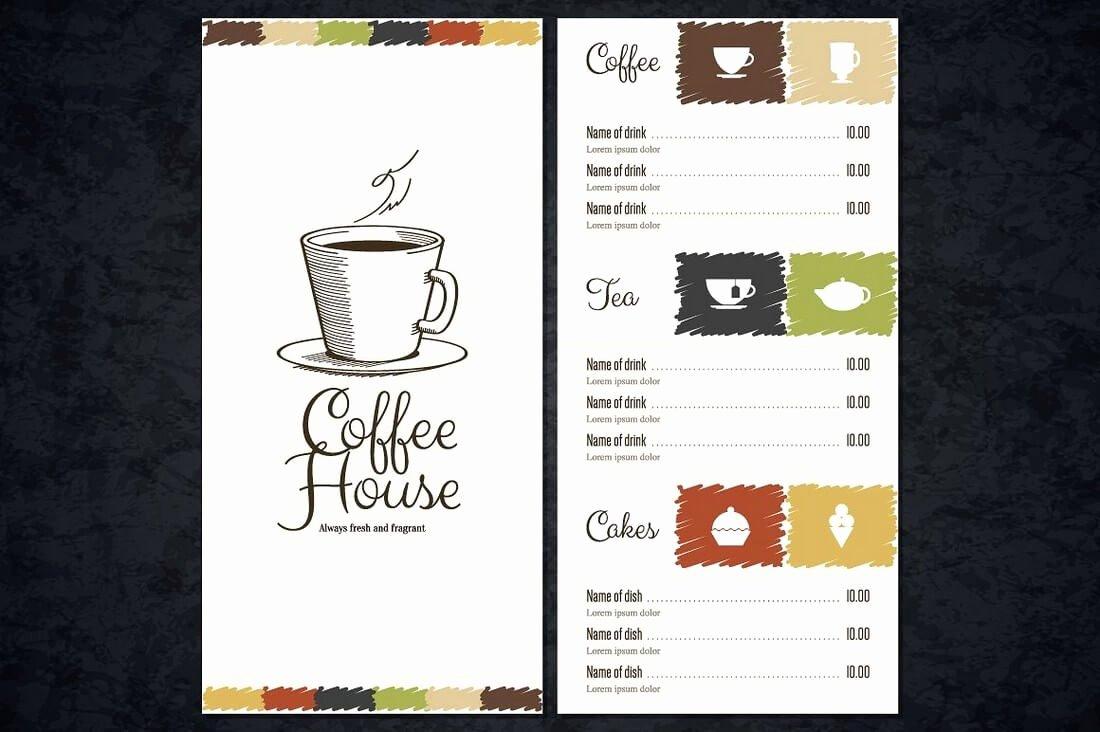 Coffee Shop Menu Template Best Of 50 Best Food & Drink Menu Templates