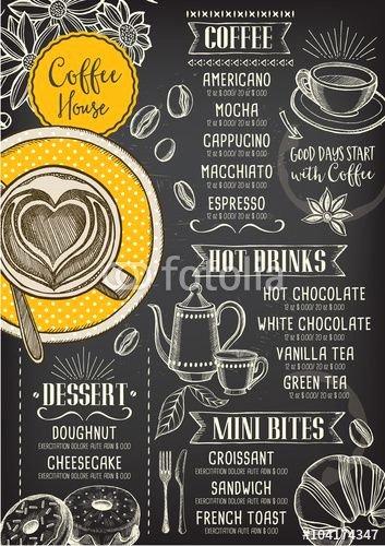 Coffee Shop Menu Template Elegant Best 25 Cafe Menu Design Ideas On Pinterest