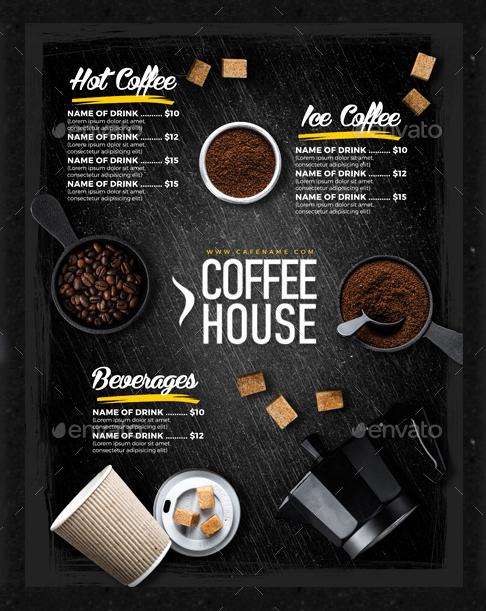Coffee Shop Menu Template Inspirational 15 Coffee Shop Menu Designs & Templates Psd Indesign