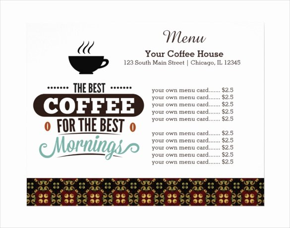 Coffee Shop Menu Template Lovely 20 Coffee Menu Templates – Free Sample Example format