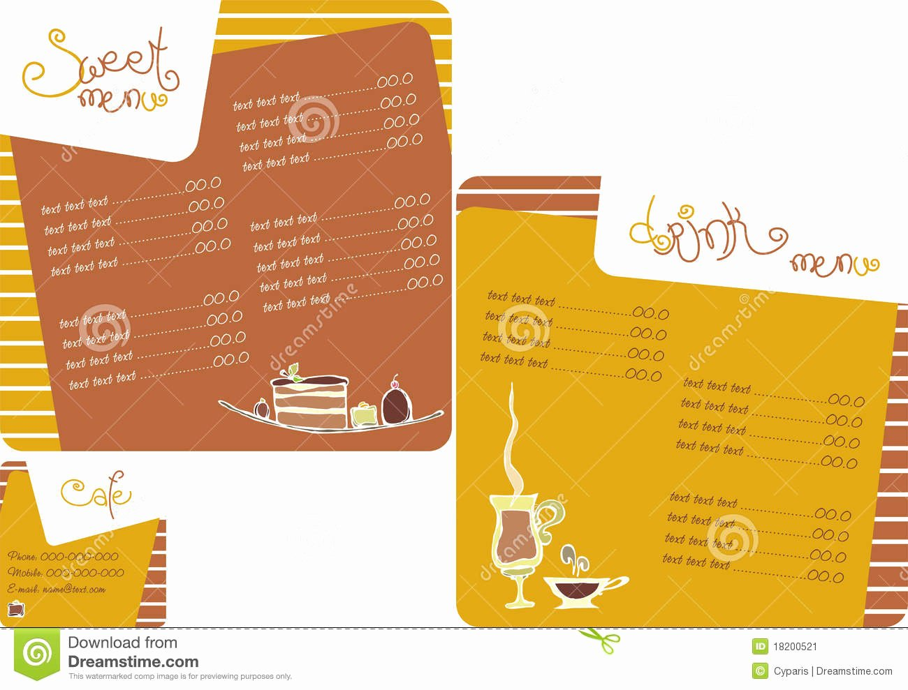 Coffee Shop Menu Template Lovely Template Menu for Coffee Shop Stock Vector Illustration