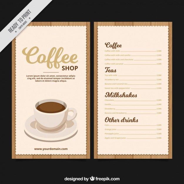 Coffee Shop Menu Template Luxury Retro Coffee Menu Template Vector
