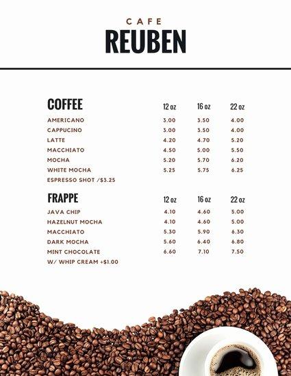 Coffee Shop Menu Template Unique Customize 283 Coffee Shop Menu Templates Online Canva