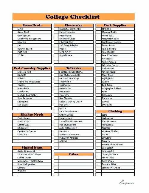 College Application Checklist Template Awesome College Application Checklist Template College Application
