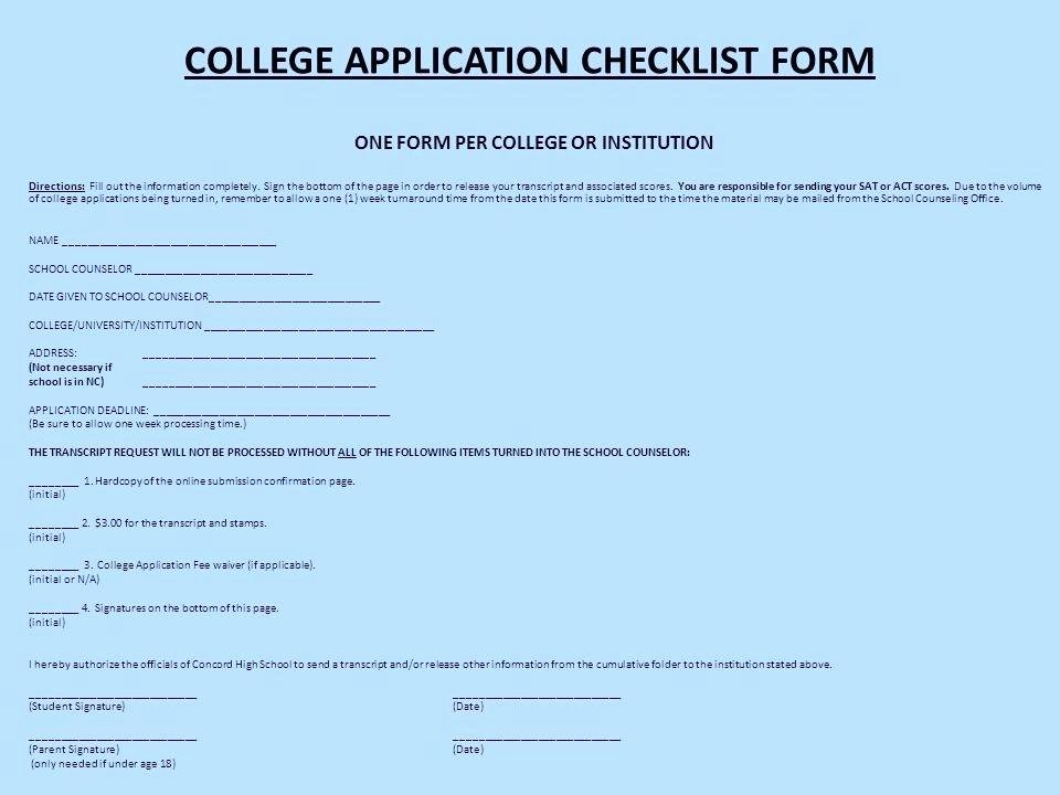 College Application Checklist Template Elegant College Application Checklist Template