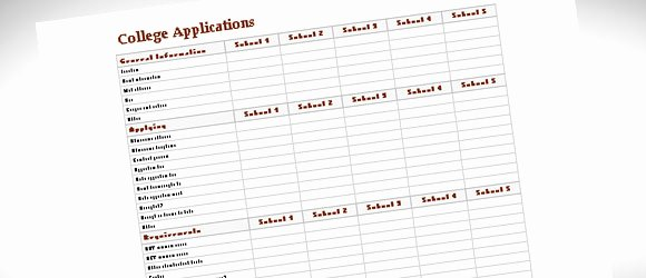College Application Checklist Template Inspirational College Parison Template for Excel