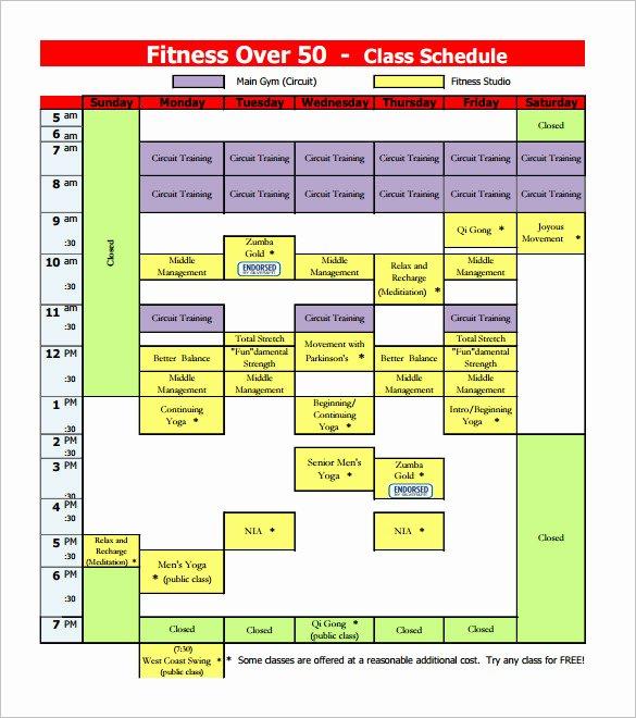 College Class Schedule Template Elegant Class Schedule Template – 8 Free Sample Example format