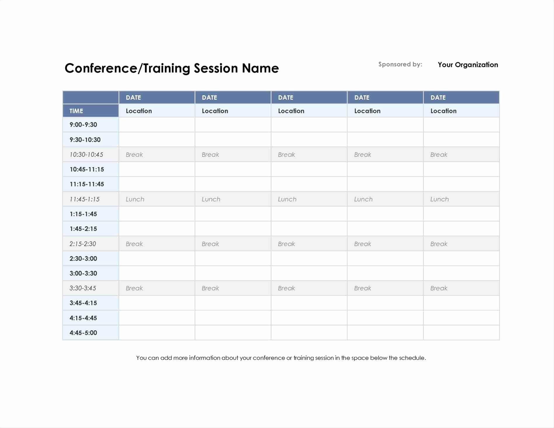 College Class Schedule Template New 4 5 School Schedule Maker