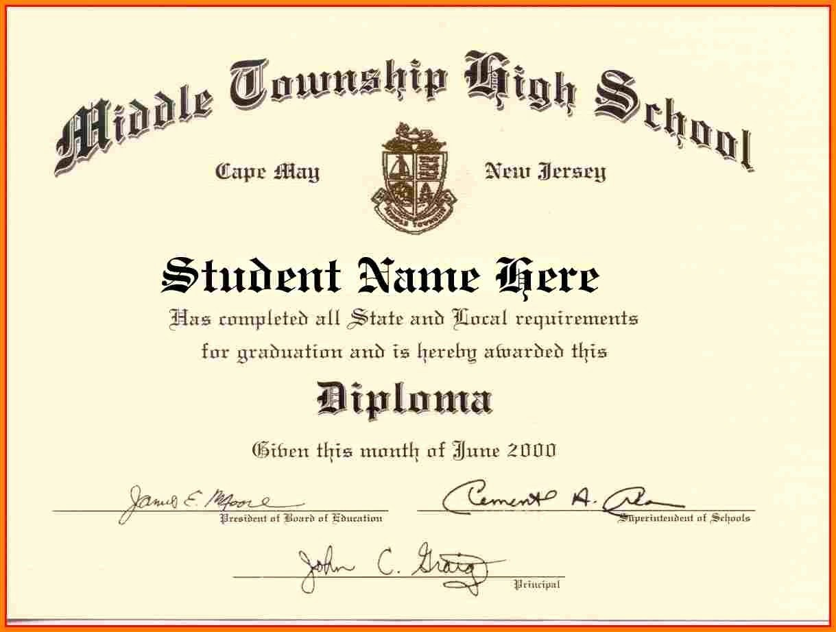 College Diploma Template Pdf Best Of High School Diploma Template Word Free Download