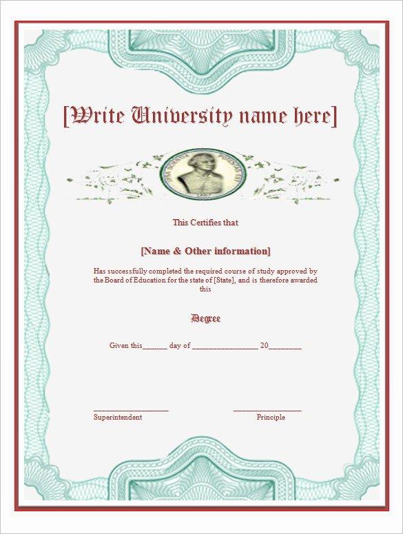 College Diploma Template Pdf Elegant 38 Sample Certificate Templates Pdf Doc