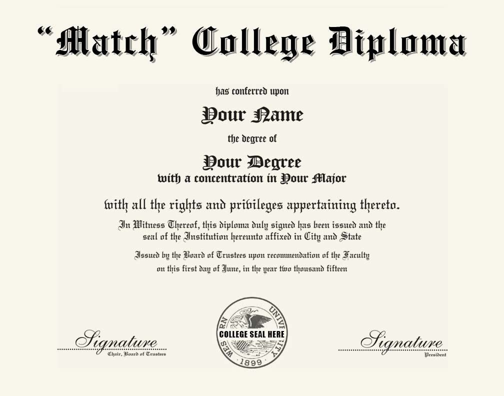 College Diploma Template Pdf Elegant Match College Diploma for Any College or University