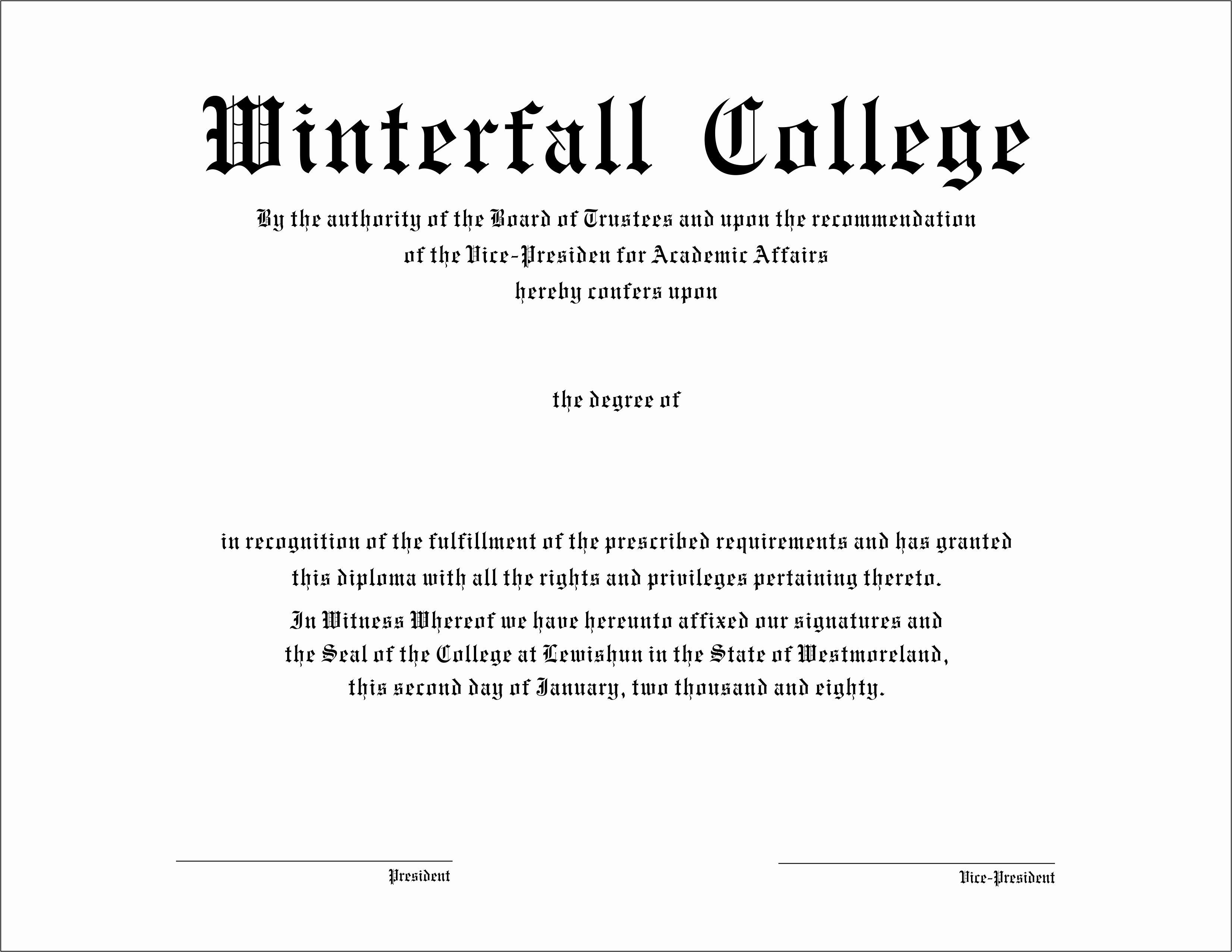 College Diploma Template Pdf Fresh High School Diploma Templatestificate Template Free