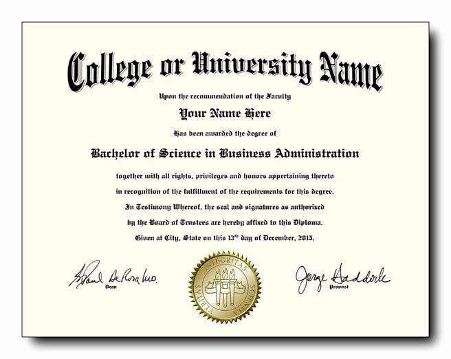 College Diploma Template Pdf Lovely Fake College and University Diplomas Starting at Only $59