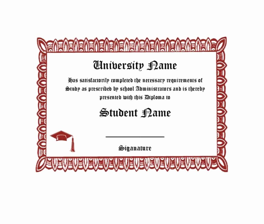 College Diploma Template Pdf Unique 30 Real & Fake Diploma Templates High School College