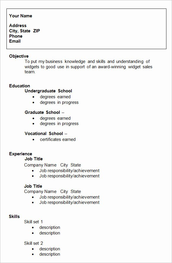 College Freshman Resume Template Luxury 10 College Resume Template Sample Examples