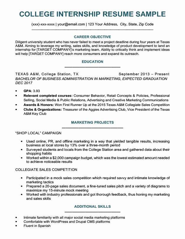 College Freshman Resume Template New College Student Resume Sample & Writing Tips