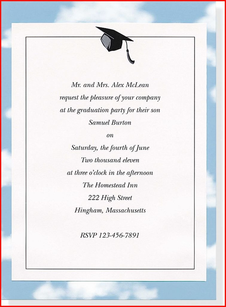 College Graduation Announcement Template Awesome High School Graduation Invitations Templates