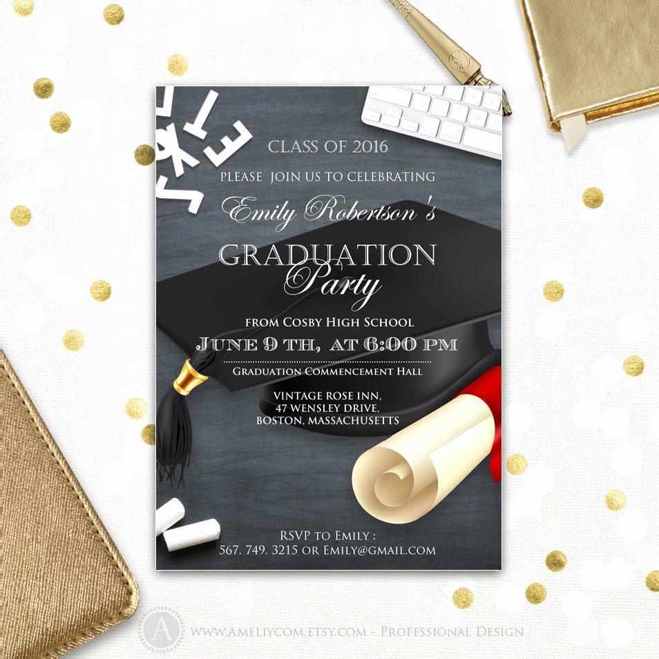 College Graduation Announcement Template Best Of College Graduation Announcement Printable Template Boy