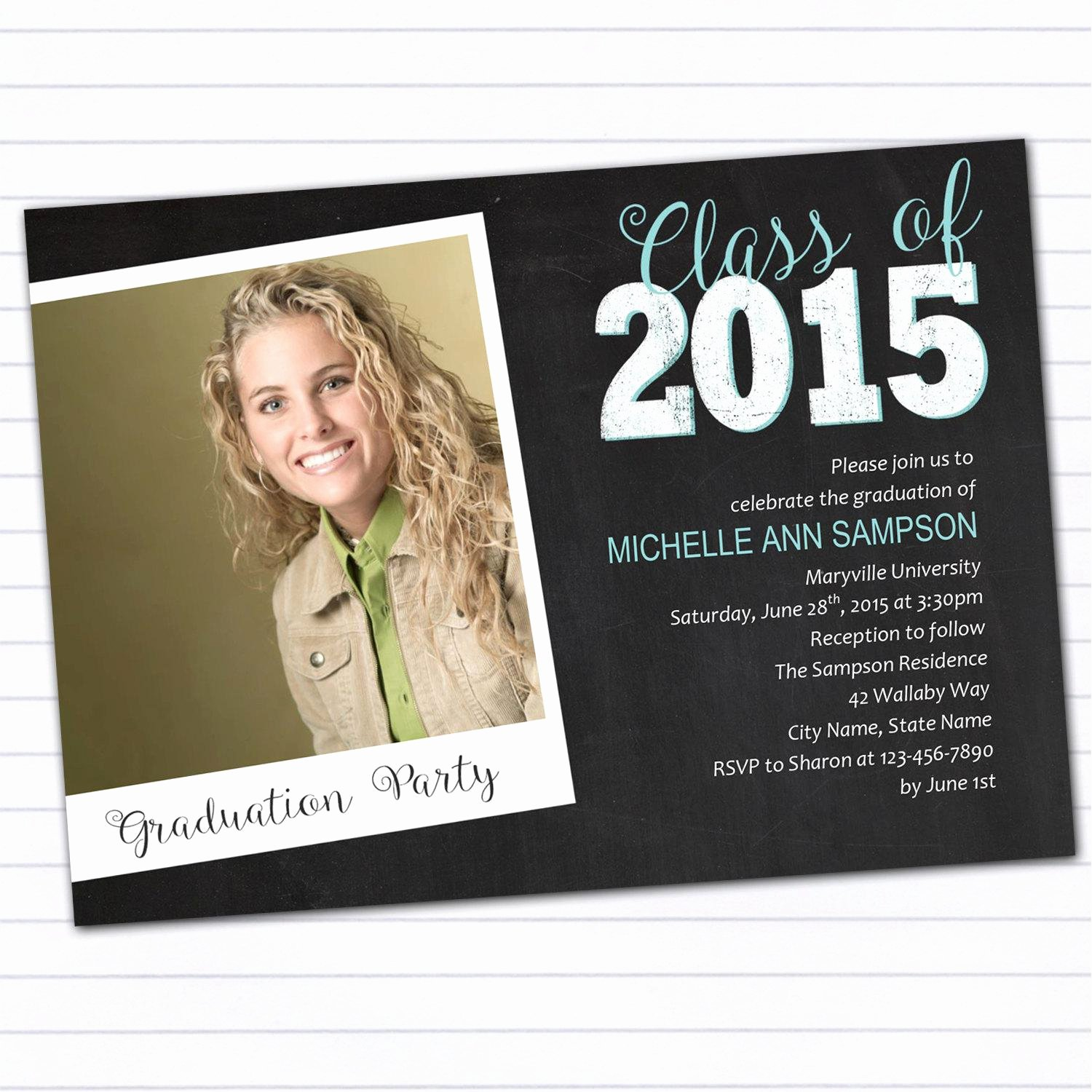 College Graduation Announcement Template Fresh College Graduation Party Invitations