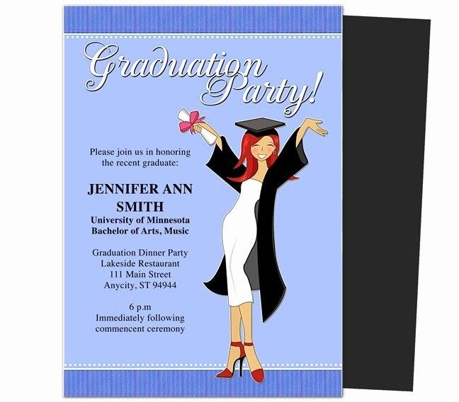 College Graduation Announcement Template Fresh Graduation Party Invitations Templates 2018