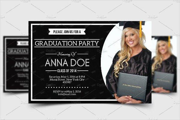 College Graduation Announcement Template Inspirational 8 Graduation Party Invitation Designs & Templates Psd