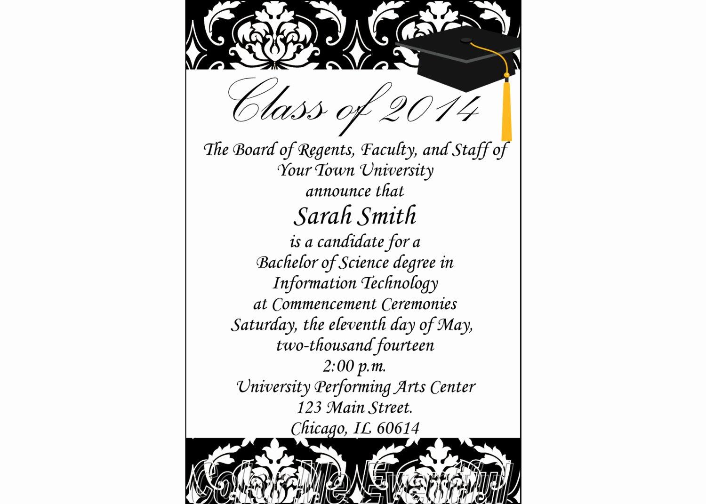 College Graduation Announcement Template Lovely Items Similar to College Graduation Announcement
