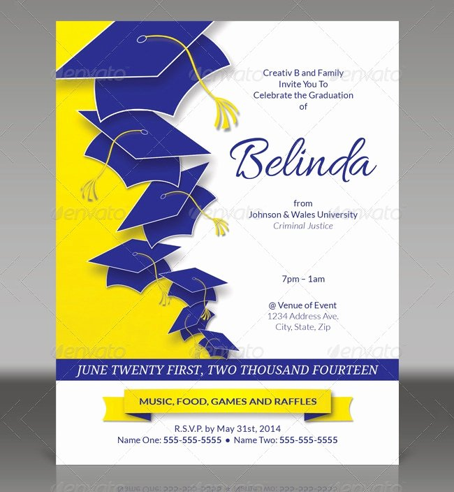 College Graduation Announcements Template Awesome 25 Graduation Invitation Templates Psd Vector Eps Ai