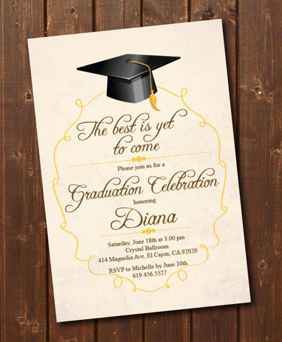 College Graduation Announcements Template Awesome 78 Invitation Card Examples Word Psd Ai Word