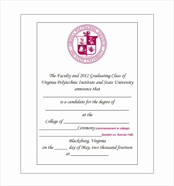 College Graduation Announcements Template Awesome 9 Graduation Announcement Templates for Free Download