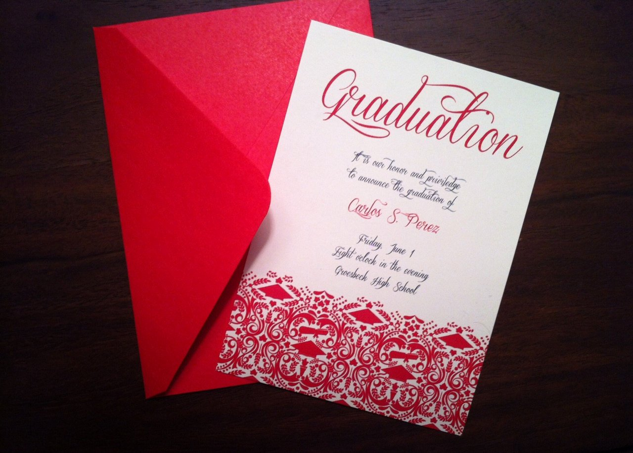 College Graduation Announcements Template Beautiful Diy Graduation Invitation Announcement High School College