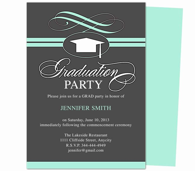 College Graduation Announcements Template Fresh Graduation Party Invitation Templates Swirl Graduation