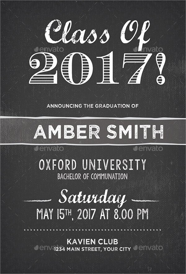 College Graduation Announcements Template Inspirational 31 Examples Of Graduation Invitation Designs Psd Ai