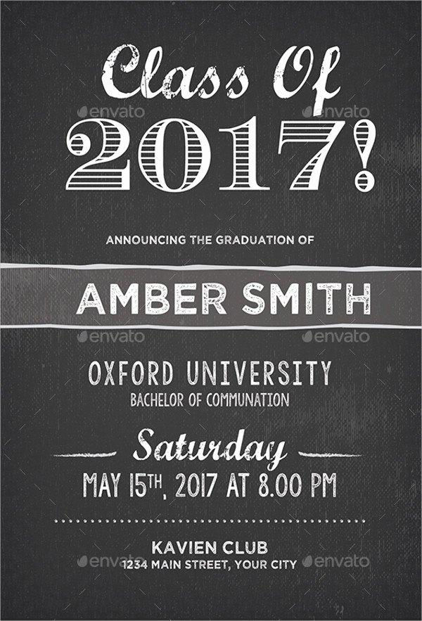 College Graduation Announcements Template Inspirational 31 Examples Of Graduation Invitation Designs Psd Ai