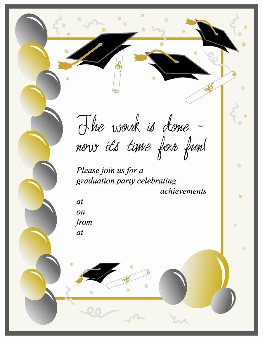 College Graduation Announcements Template Inspirational 40 Free Graduation Invitation Templates Template Lab