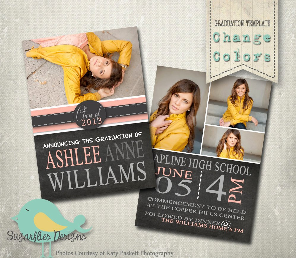 College Graduation Announcements Template Inspirational Graduation Announcement Templates Senior Graduation 19