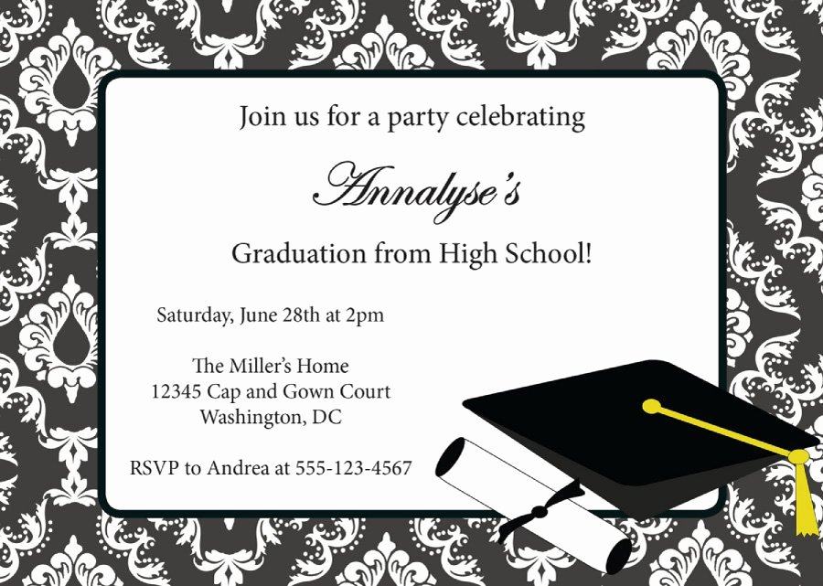 College Graduation Announcements Template Luxury 40 Free Graduation Invitation Templates Template Lab