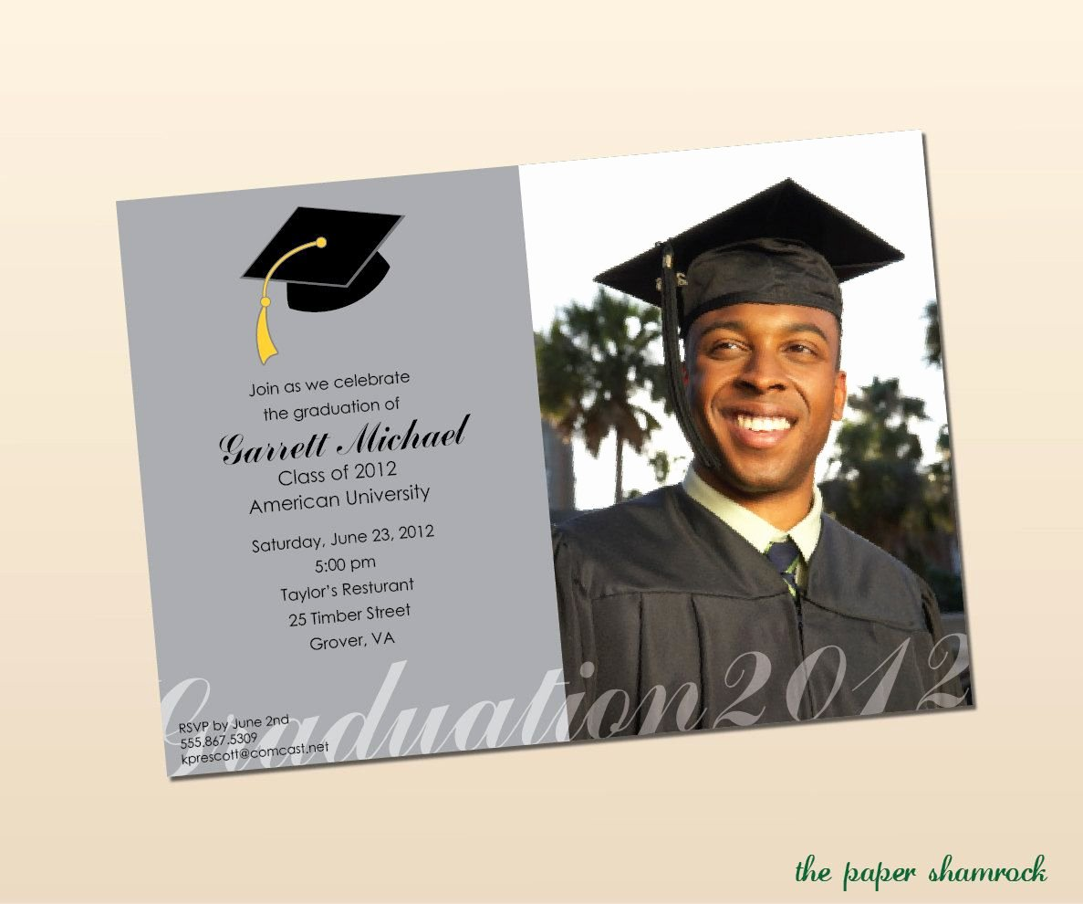 College Graduation Announcements Template Luxury High School Graduation Party Menu