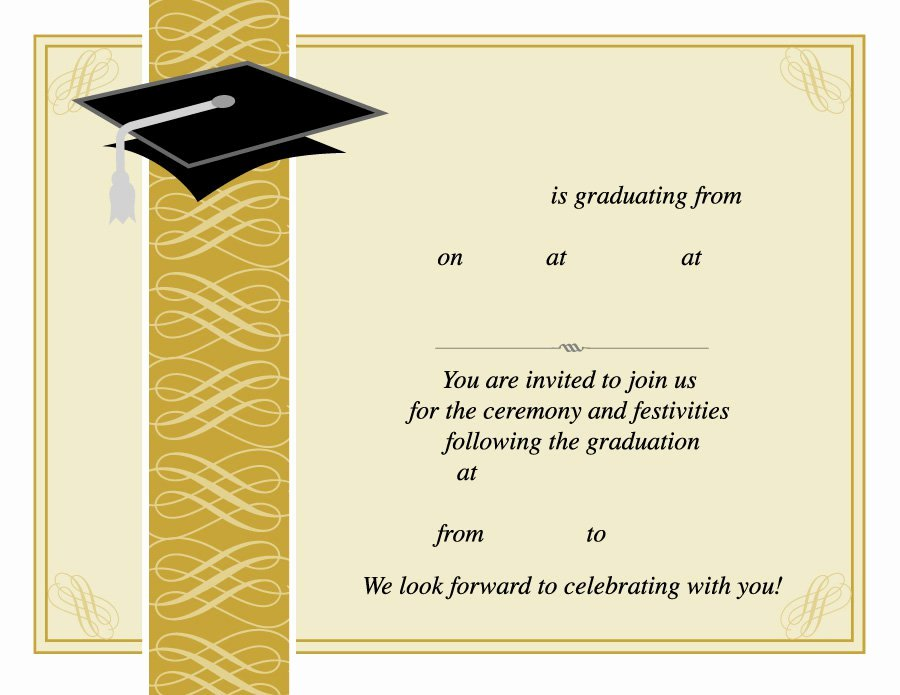 College Graduation Announcements Template Unique 40 Free Graduation Invitation Templates Template Lab