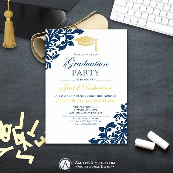 College Graduation Announcements Template Unique Graduation Party Invitation Сollege Printable Template Boy