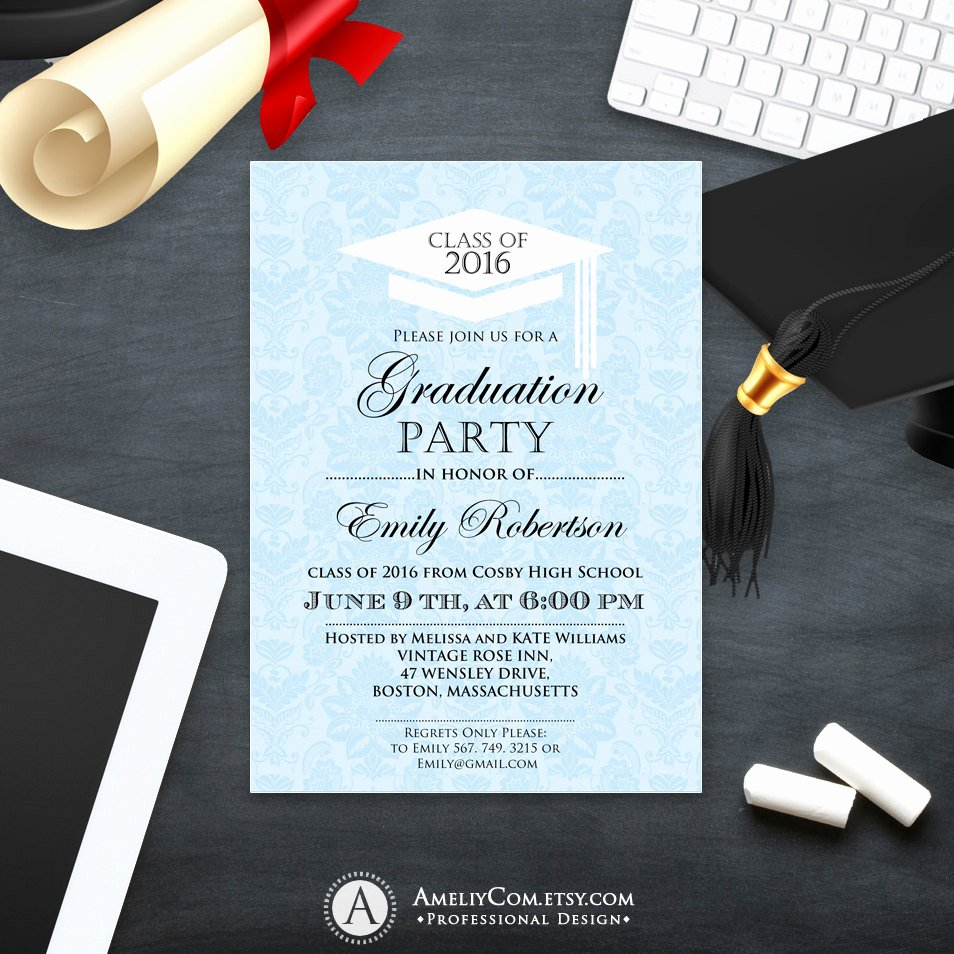 College Graduation Announcements Template Unique Printable Graduation Invitation Template College Graduation