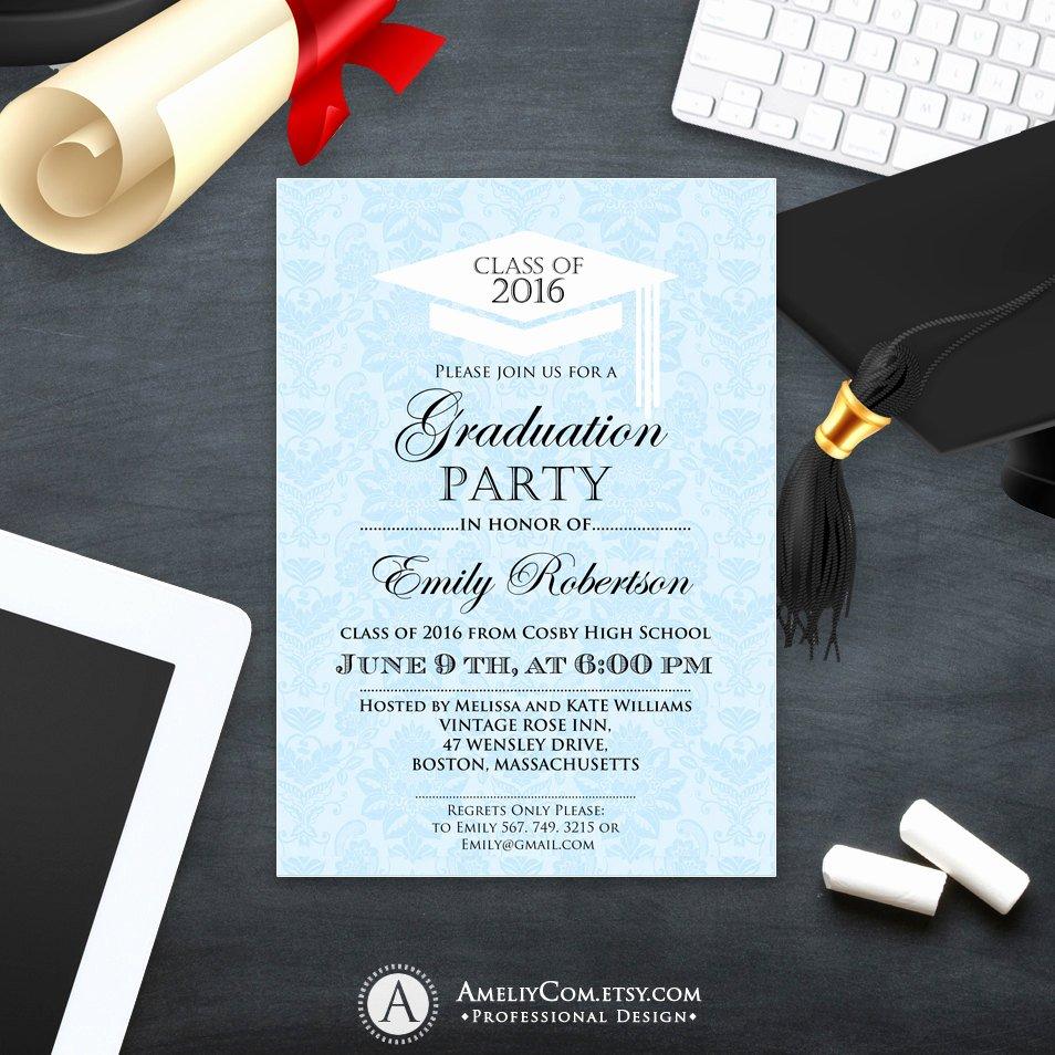 College Graduation Announcements Template Unique Printable Graduation Invitation Template College Graduation