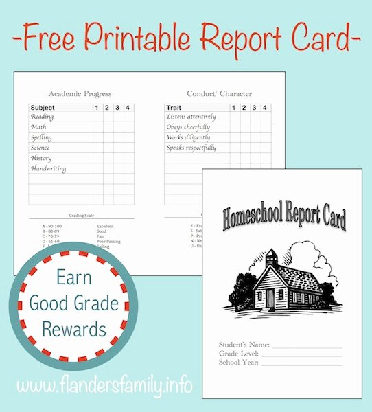 College Report Card Template Beautiful Home School Report Cards Flanders Family Homelife