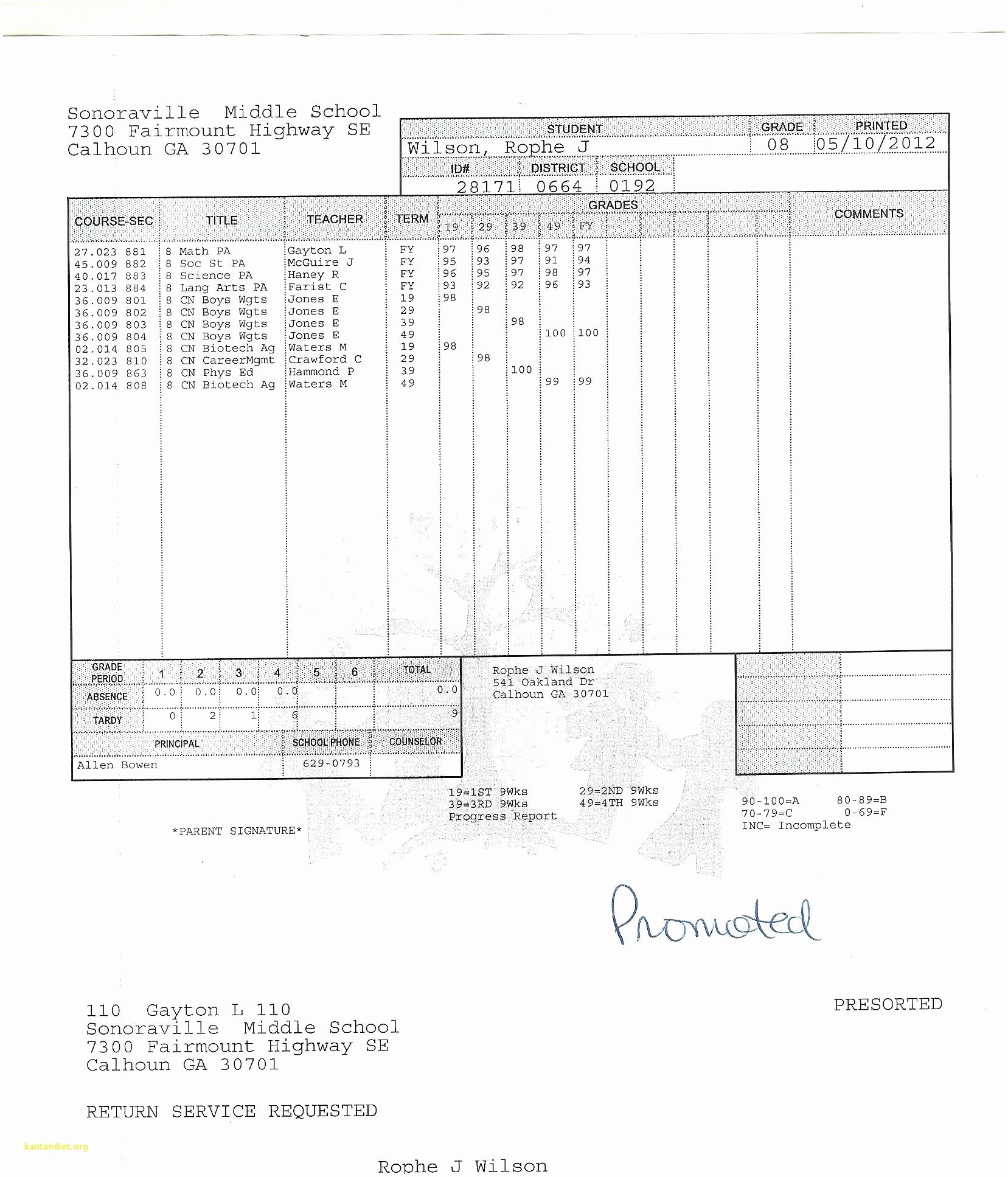 College Report Card Template Lovely College Report Card Template Student Fake Free Download