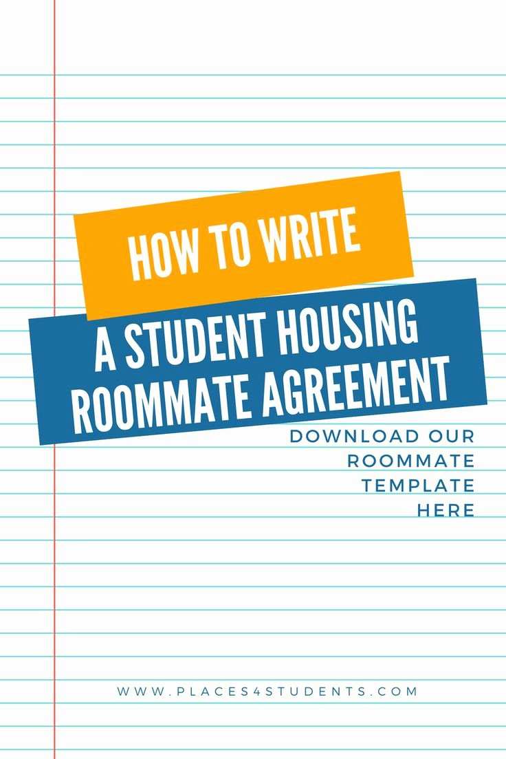 College Roommate Agreement Template Lovely 25 Best Ideas About Roommate Agreement On Pinterest
