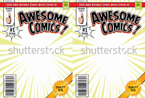 Comic Book Cover Template Best Of 31 Beautiful Book Cover Templates Free Sample Example