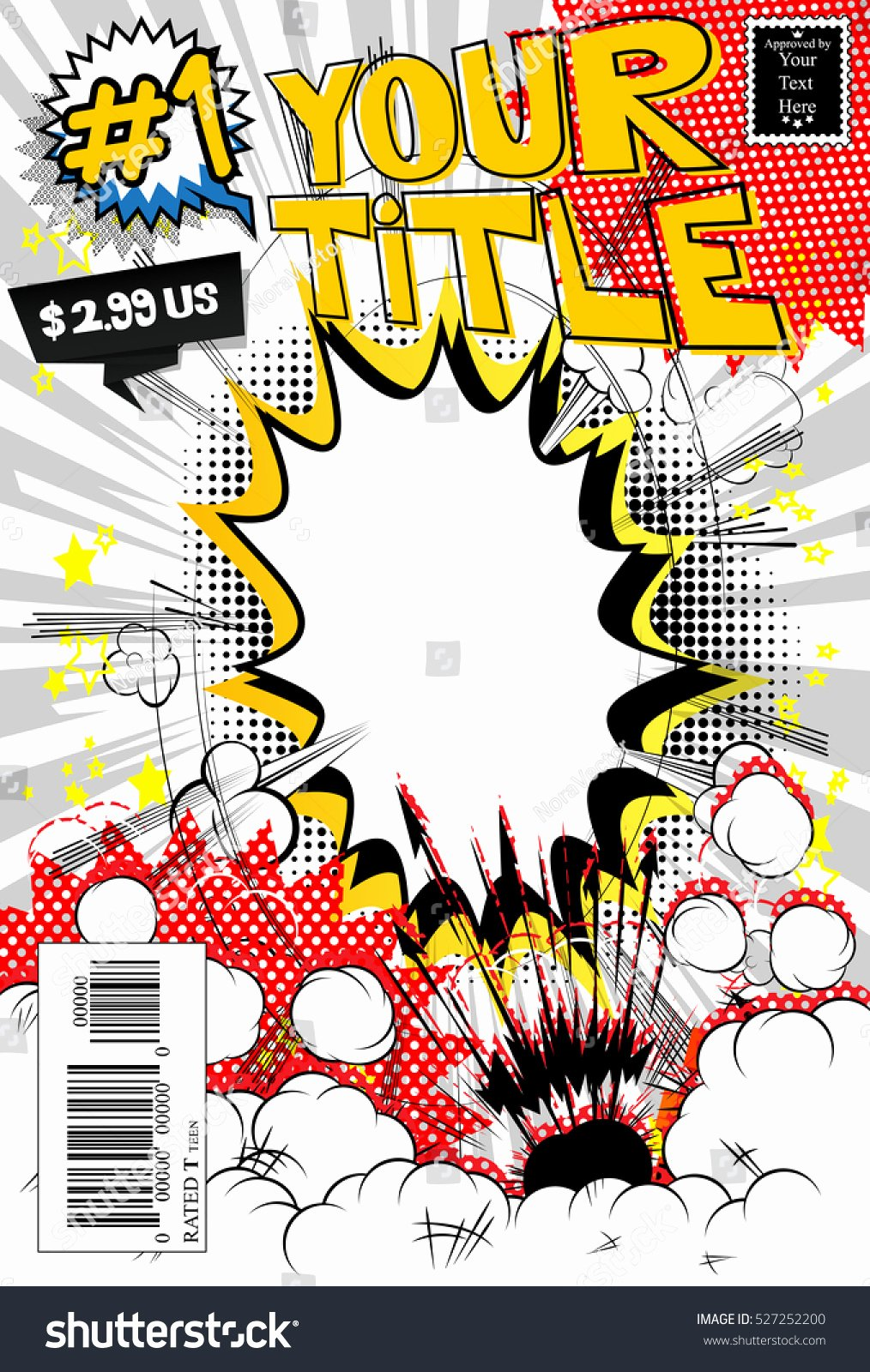 Comic Book Cover Template Fresh Editable Ic Book Cover Stock Vector
