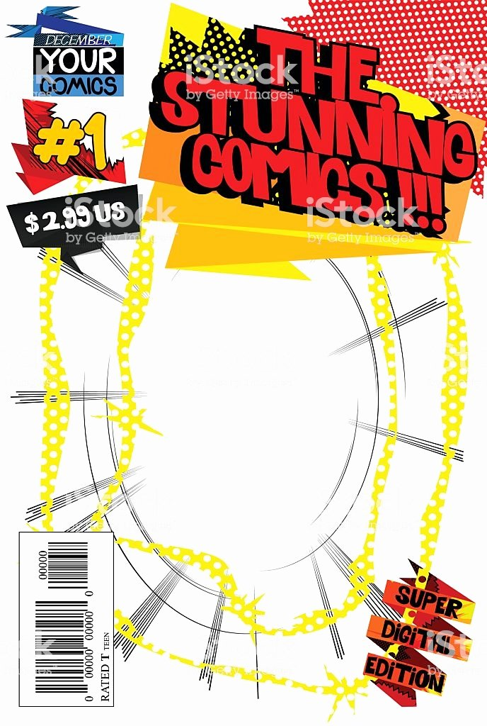 Comic Book Cover Template Lovely Editable Ic Book Cover Template Stock Vector Art