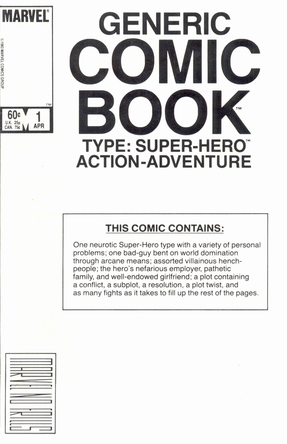 Comic Book Cover Template New Marvel Ics Of the 1980s 1984 the Generic Ic Book